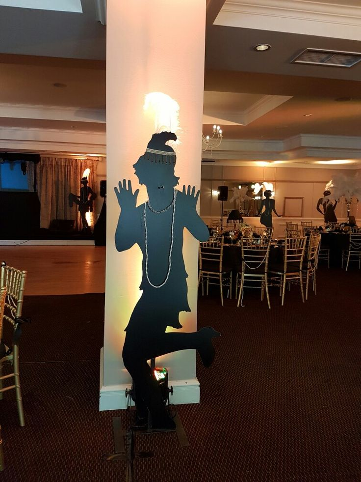 The Great Gatsby flapper silhouette..