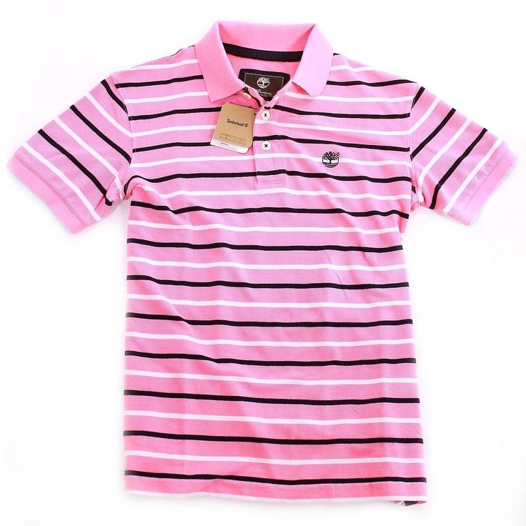 Timberland Pique Polo Shirt Stripey Top T Shirt £29.99