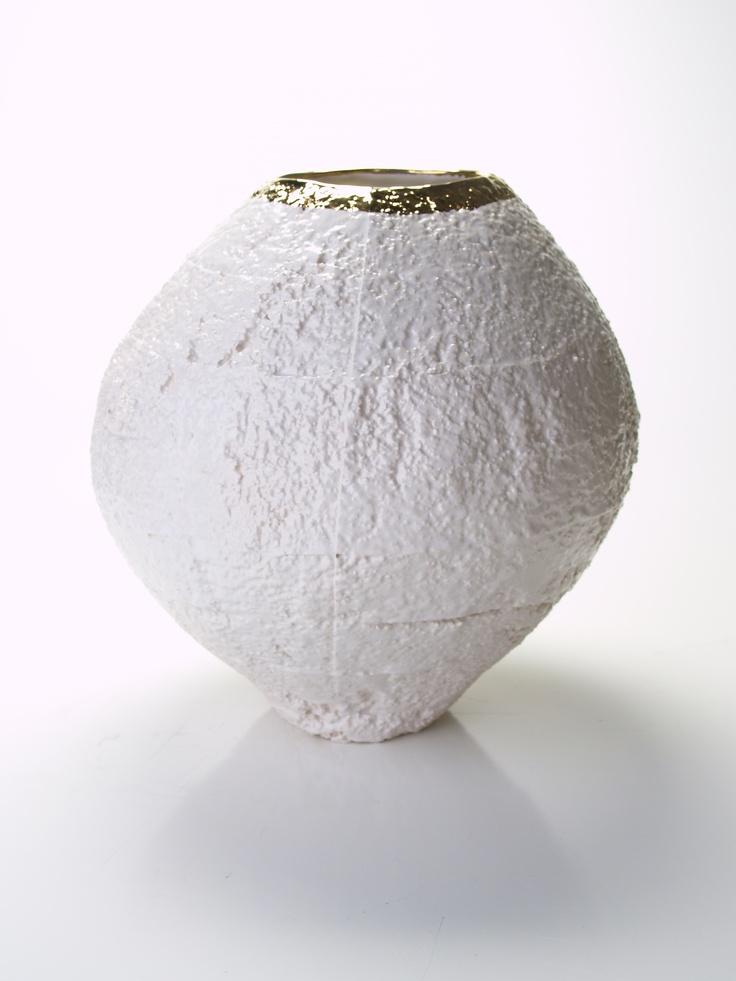 Styroware Jar  Porcelain and gold luster  www.gdgstudios.com