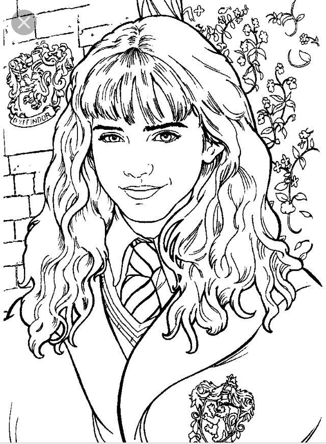 Hermione Granger Colouring Page Harrypotter раскраски в