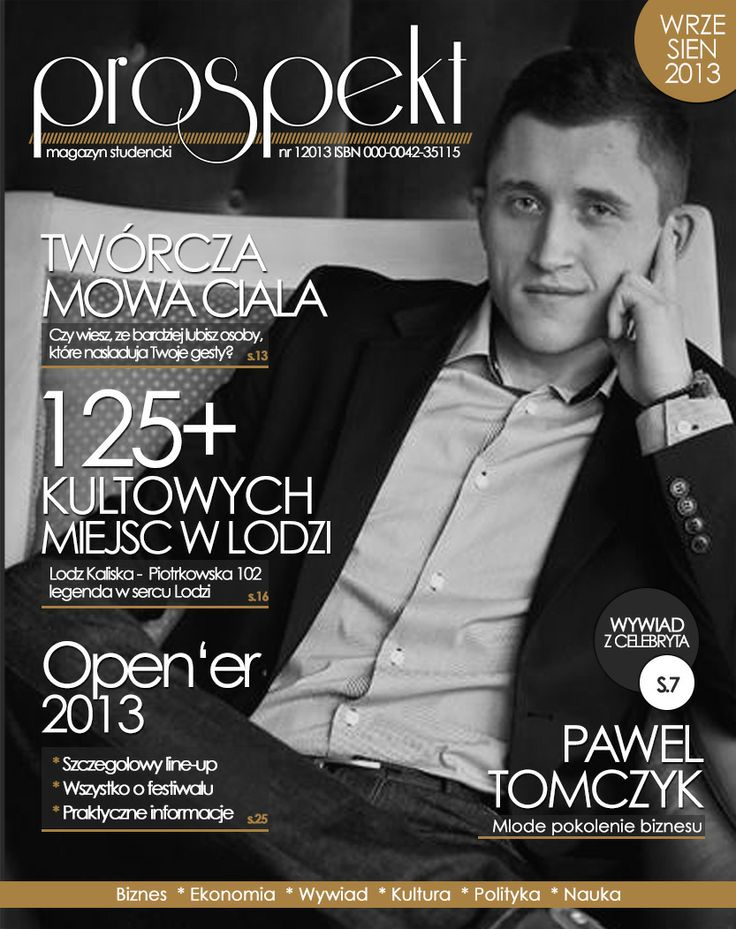 [Prospekt] Projekt okładki czasopisma studenckiego Prospekt na WSMiP - Uniwersytet Łódzki