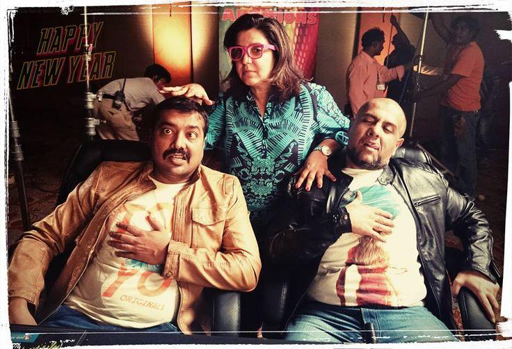Anurag Kashyap & Vishal Dadlani playing the role of #RealityShowJudges in #HappyNewYear! #Overacting #Fun #Masti with #FarahKhan