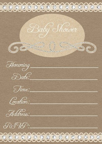 Use our free online baby shower invitation and matching thank you card to save yourself money. You can print these 5x7 baby shower invitations now.