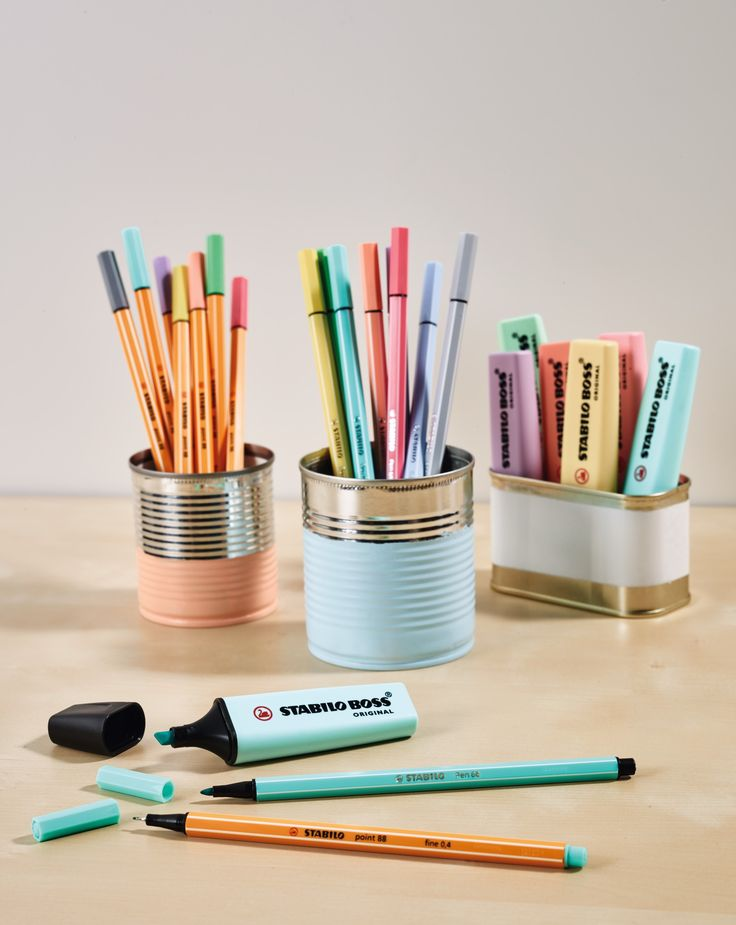 STABILO BOSS Pastel, STABILO Pen 68 Pastel and STABILO point 88 Pastel