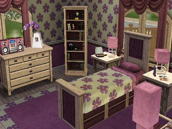 Bedroom Designs Sims 3 girls room sims 3 | sims | pinterest | sims and video games