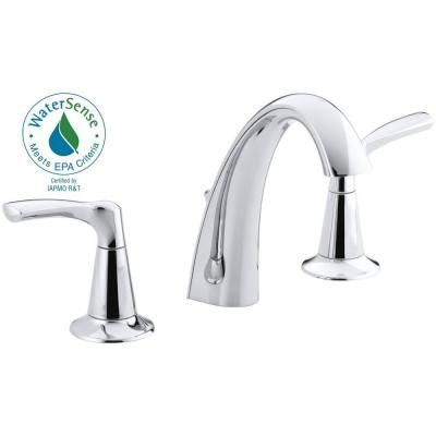 ... KOHLER Mistos 8 in. Widespread 2-Handle Bathroom Faucet in Polished