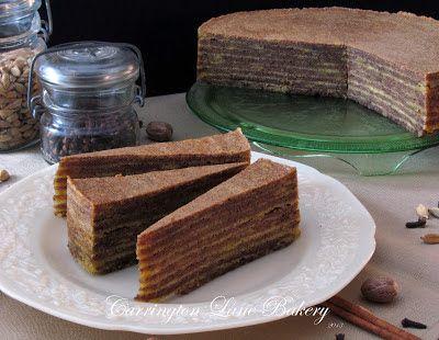 Spekkoek (Lapis Legit or Thousand Layer Cake)