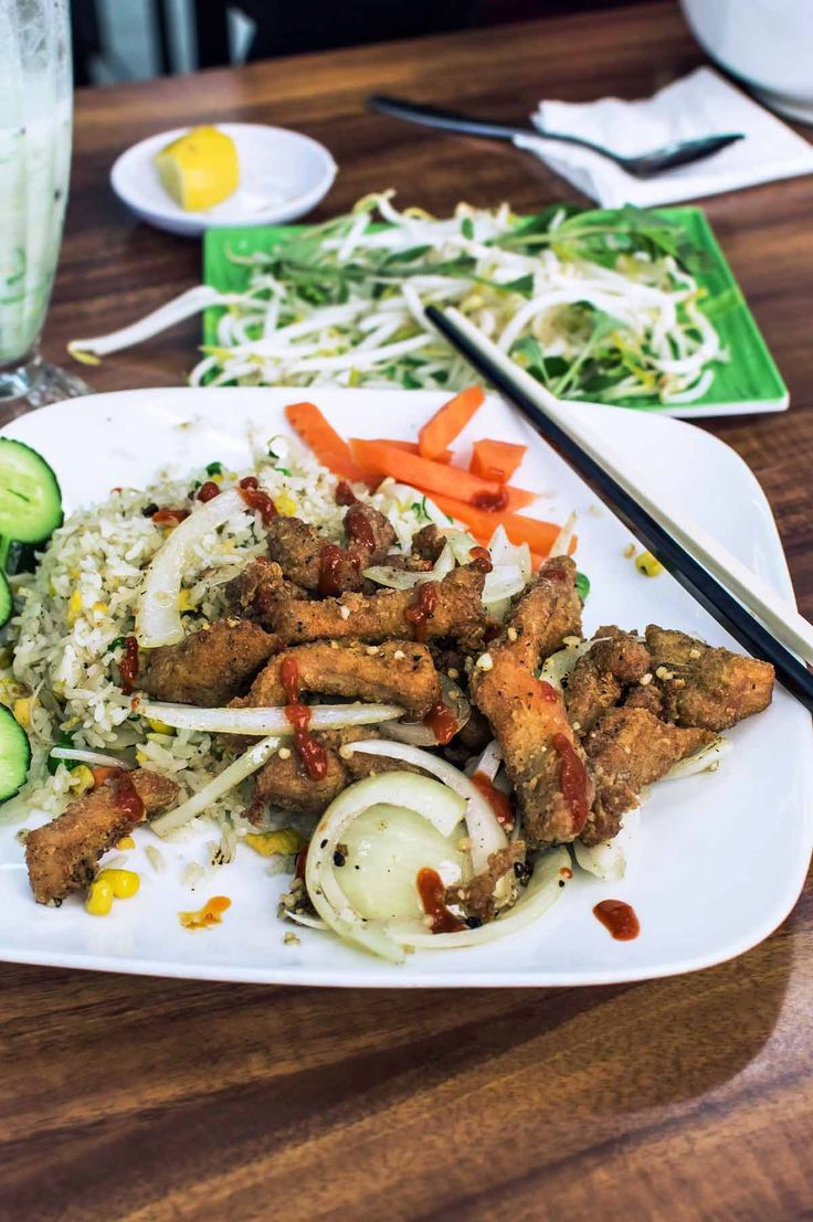 Salt & pepper pork at Tra Vinh, Inala | heneedsfood.com