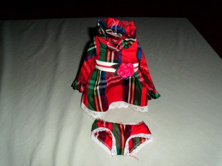 """IDEAL """"1970'S""""  VELVET DOLL OUTFIT PLAID DRESS AND PANTIES WILL FIT CRISSY TO  #IDEAL #ClothingAccessories"""