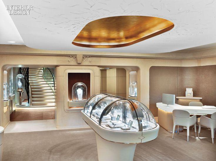 Place Vendome Inspires The Grandeur Of Van Cleef Arpelss Newest Paris Boutique Retail InteriorInterior Design MagazineVan