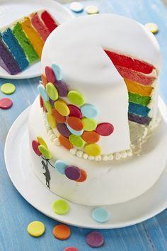 Rainbow Cake - Temps : 2h - Difficulté : Facile - Recette - Zôdio