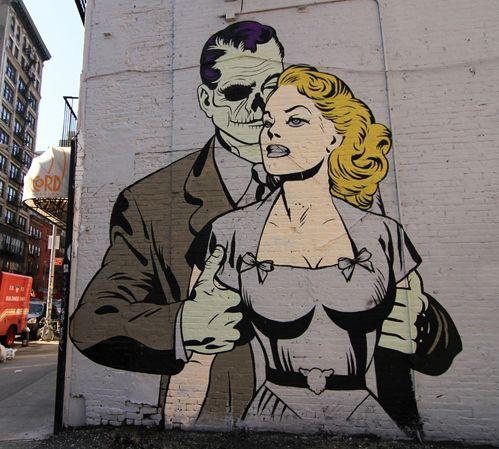 D*Face: Street Artists, Faces Art Environment Artworks, Urban Art, Zombies Street, Zombies Girls Art, Paintings Wall, D Faces, Luna Parks, Streetart