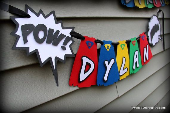 Superhero Cape Party Banner