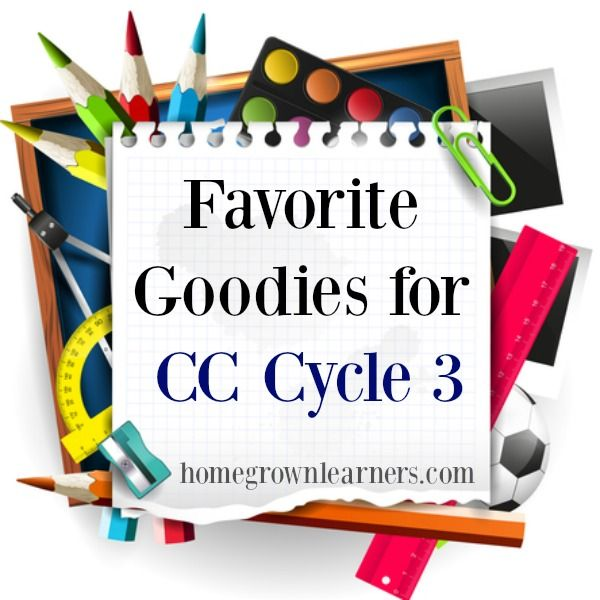 "By popular demand comes a post for all of my Classical Conversations  friends.  I love to share what we are using on Instagram in the Facebook community -  someone asked the other day if I could write a post with all of my  ""favorite goodies"" for CC Cycle 3.  Ask and you shall recei"