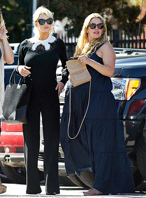 Jessica Simpson Wears Conservative Outfit With Pregnant CaCee Cobb - Us Weekly
