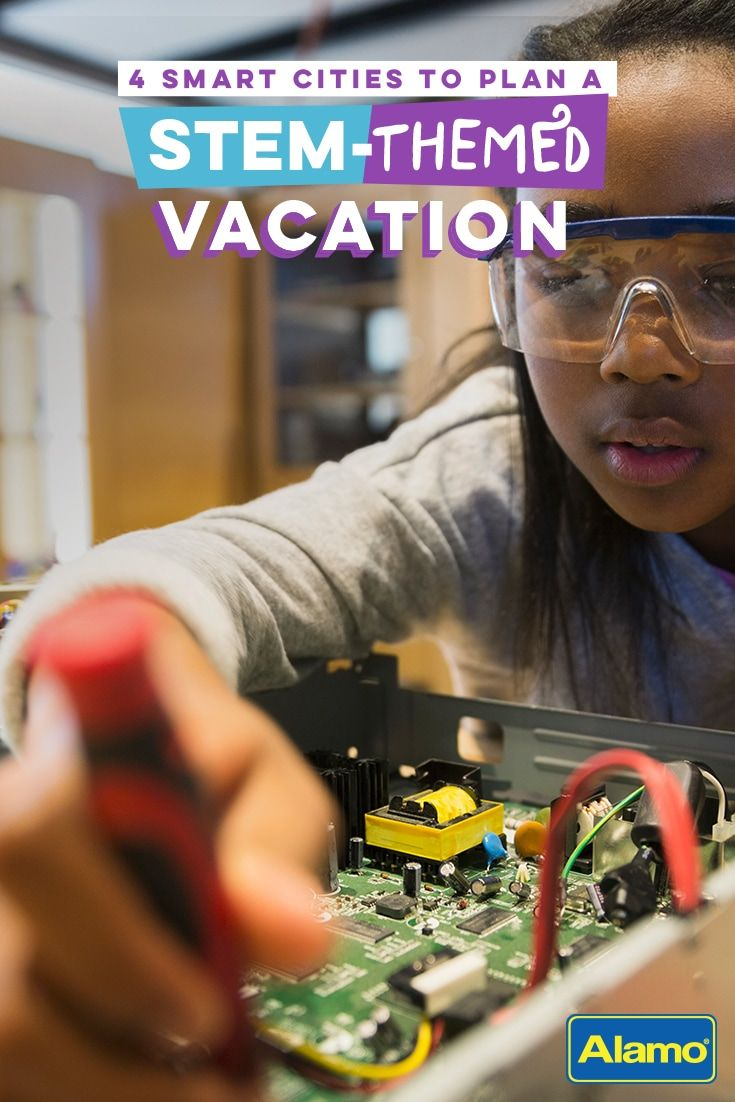Even when school's out, the learning shouldn't stop! These four cities offer fun and educational STEM-themed attractions that will be a hit with students young and old. Pin to save for your spring, winter or fall break vacation!