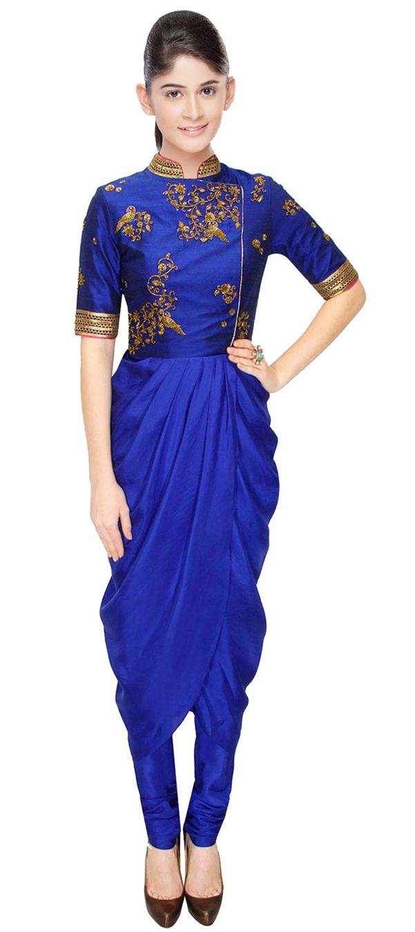 423421: #SalwarKameez #Bridalwear #WeddingCouture #indigo #sale #onlineshopping #partywear #asian #thailand #inspiration #silk