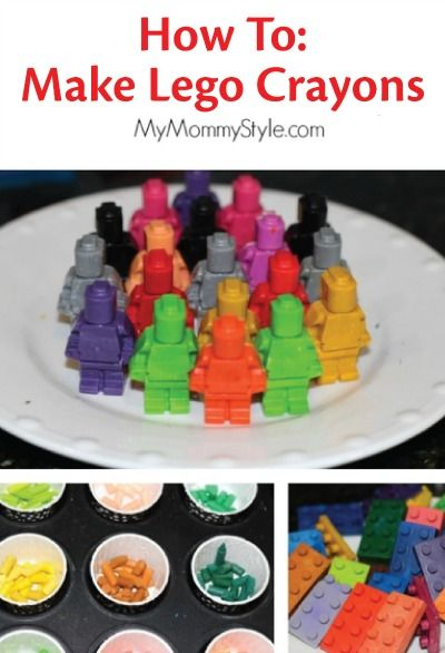 Turn melted crayons into a fun lego crayon party favor for a kid's birthday. | kids crafts