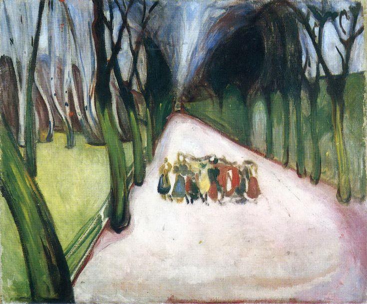 """wetreesinart: """" Edvard Munch, Enfants sur la route, 1906 """""""
