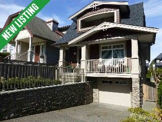 White Rock House for sale: The perfect family home in central White Rock, walking distance to schools, hospital, shopping & the beach. This 4 year young Craftsman style home w/elegant finishing & design, has inviting south facing front por...