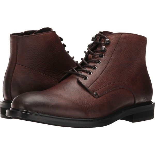 Blondo Float Waterproof (Brown Leather) Men's Lace-up Boots (5.655 RUB) ❤ liked on Polyvore featuring men's fashion, men's shoes, men's boots, brown, mens short boots, mens ankle boots, mens round toe cowboy boots, mens brown lace up boots and mens boots