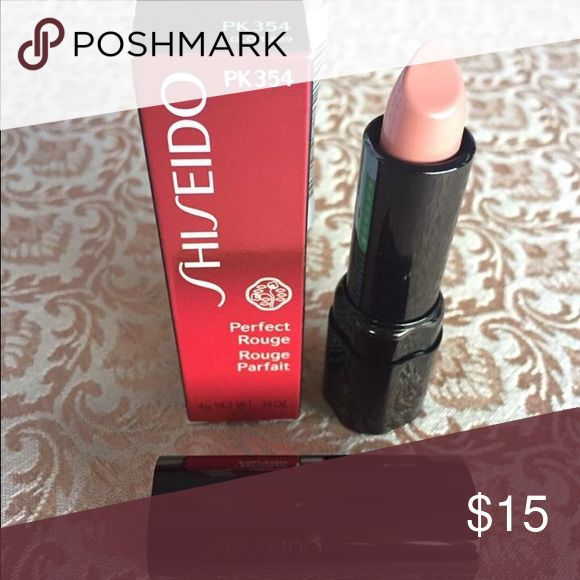 SHISEIDO Lipstick in Pink/Nude/PK354/Brand New! Shiseido Perfect Rouge Collection Lipstick in PK 354-pink/nude shades. Never been used! With Box. Nice and natural-looking color for everyday wear! Shiseido Makeup Lipstick