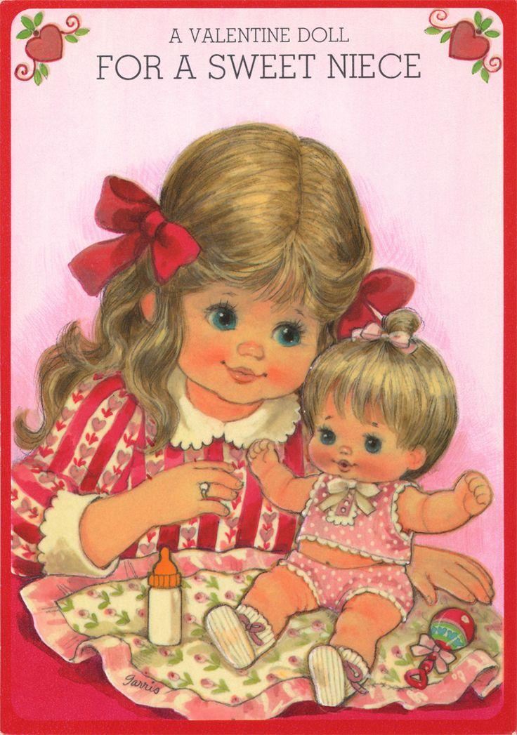 334 best GIRLS & DOLLS images on Pinterest | Vintage cards ...