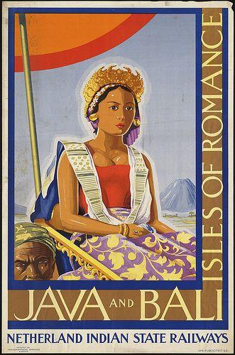 ^ _ ^: Affiches vintages de voyage sur l'Indonésie