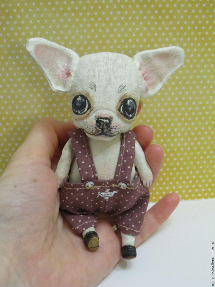 """Купить Чихуашка """"Малыш"""" ))) - белый, чихуахуа, игрушка ручной работы, игрушка для детей"""