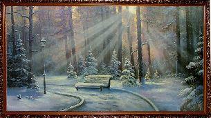 Зимний парк - Зимний пейзаж <- Картины маслом <- Картины - Каталог | Универсальный интернет-магазин подарков и сувениров