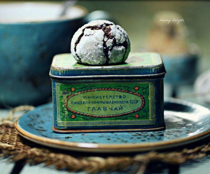 Шоколадное рождественское печенье с трещинками » Рецепты » Кулинарный журнал Насти Понедельник. Кулинарные рецепты с фото.