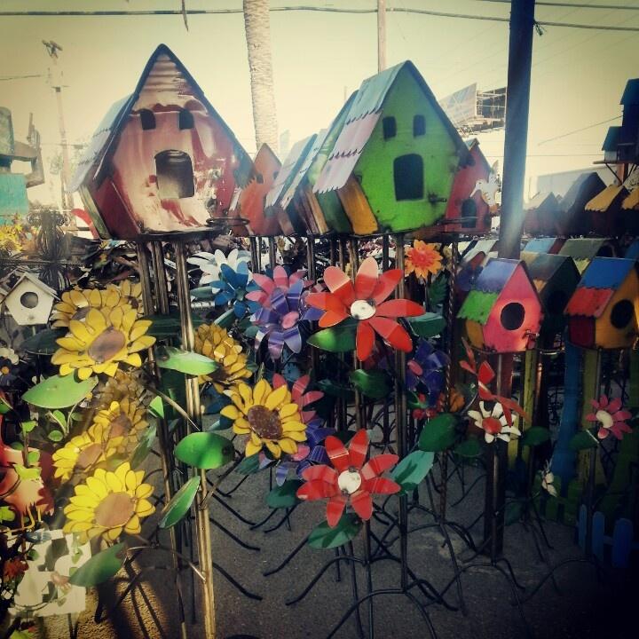 Aluminum Ermaksan Working Mexico: Metal Birdhouses Yard Art K