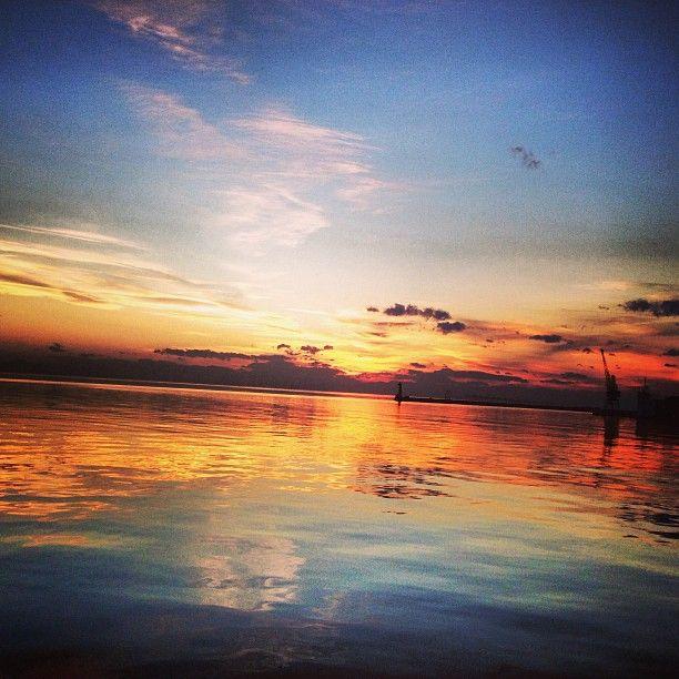 Photo by d1m1tr1s Sunset... #Greece #Thessaloniki