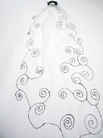 Corpse Bride Wedding - Veil and Headpiece at DeconstructressDesigns.com