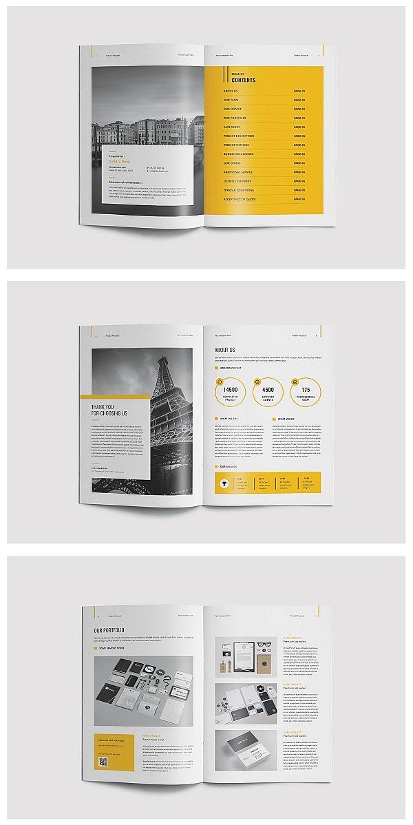 Carte De Visite Proposal Brochure Template Business Templates Type Setting Adobe Indesign
