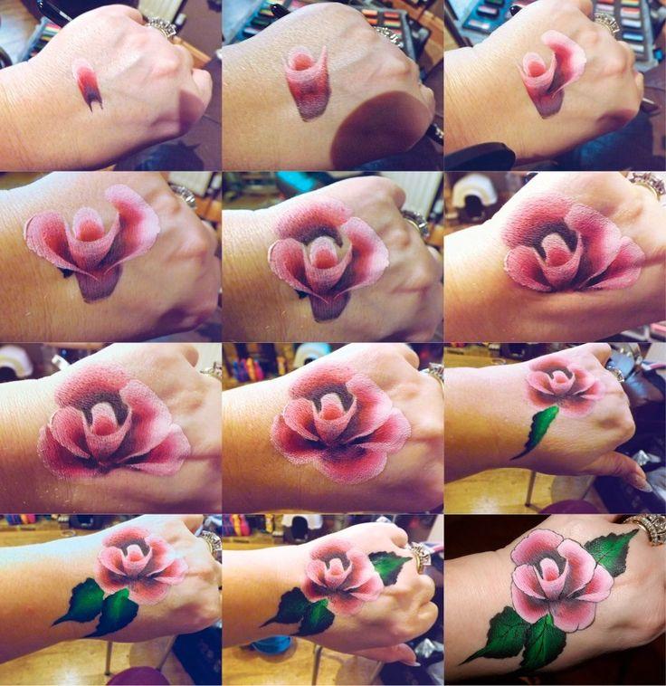 Beautiful rose face painting tutorial