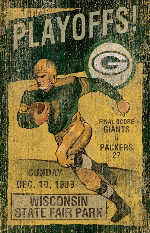 This Green Bay Packers Vintage Wall Art by Imperial USA will make a great addition to you Fan Cave, Rec Room, den or office. This vintage looking piece of art was created with the attention on detail.