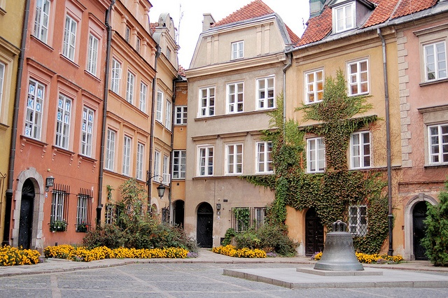Warsaw, Poland in the corner where the two buildings come together you will see the worlds narrowest single house.