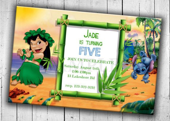 Lilo And Stitch Party Invitation Kids By