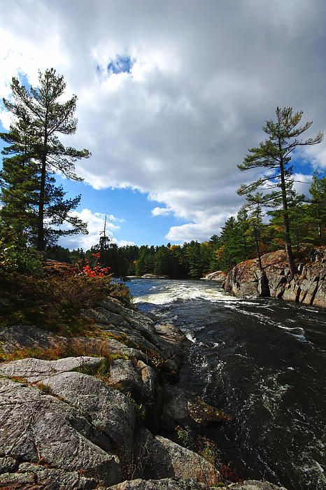 Rushing River - Five Finger Rapids French River Ontario Canada