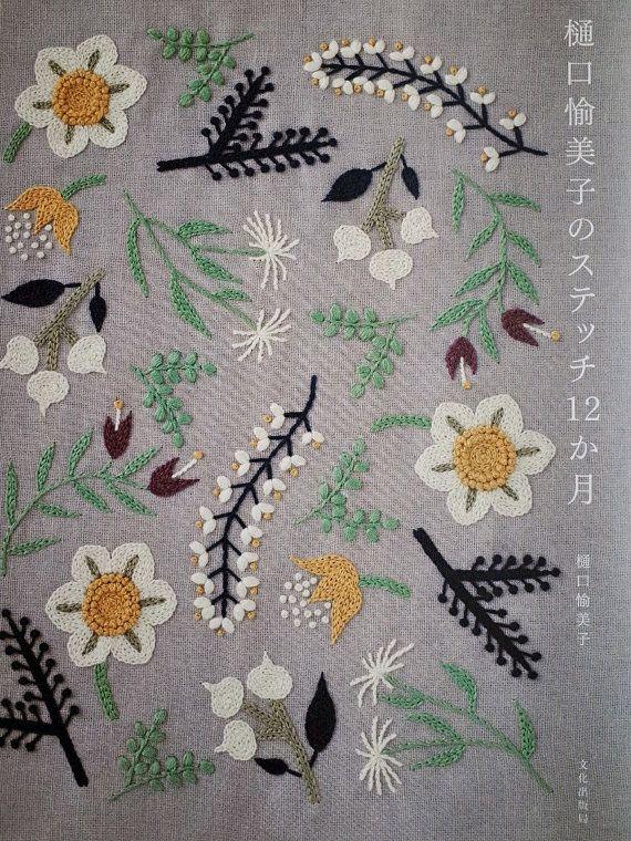 12-Month Embroidery by Yumiko Higuchi Japanese por MotokoThreads