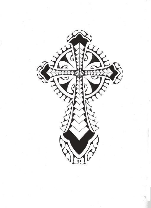 Sharp Cross Tattoo Design: Tribal Polynesian Cross By Smekeal00.deviantart.com On