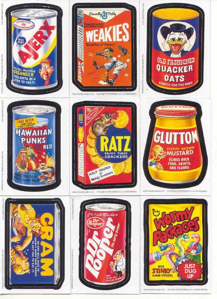 Wacky packs 70s wacky packages