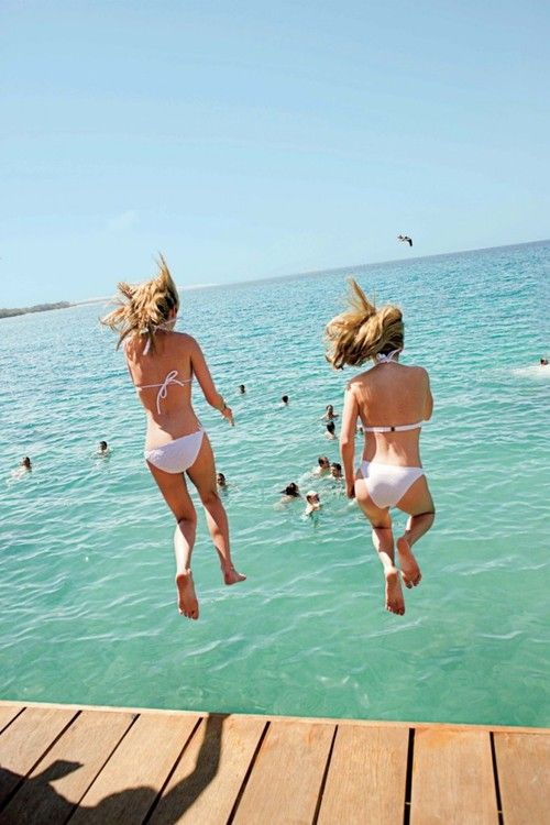 jump!White Bikinis, Best Friends, Summer Photos, The Ocean, Summertime Fun, Santo Domingo, Summer Fun, Arthur Elgort, Summer Time