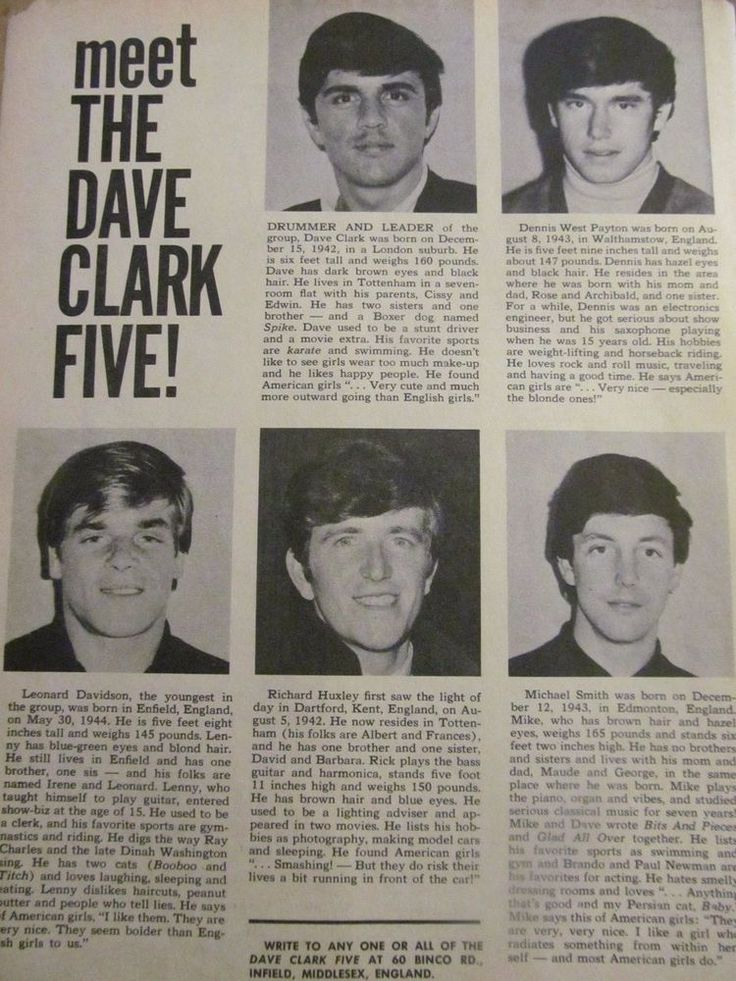 The Dave Clark Five, Paul Petersen, Double Full Page Vintage Clipping