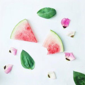 Brainstorming and eating...🌿🍉🍉🍉🙄