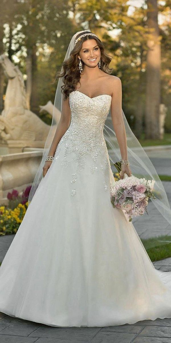 36 Gorgeous A Line Wedding Dresses ❤ Elegant and romantic a-line bridal gowns flattering for all brides. See more: http://www.weddingforward.com/a-line-wedding-dresses/ #wedding #dresses #aline