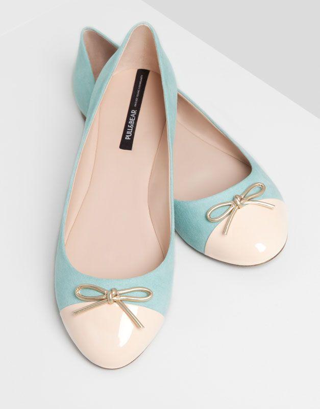 Pull&Bear - mujer - zapatos mujer - bailarina puntera - verd-turq - 15560311-I2014