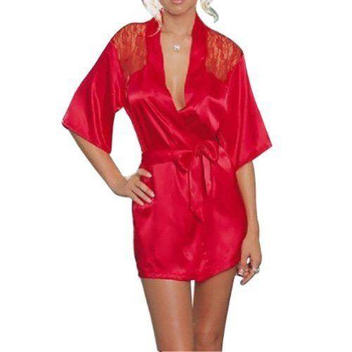 In Offerta! #Offerte Abbigliamento#Buoni Regalo   #Outlet Angela's Secrets donne sexy degli indumenti da notte abito di pizzo indumenti da notte raso indumenti da letto indietro abiti con cintura nero / viola / rosso / verde taglia unica (40-42) (Rosso) disponibile su Kellie Shop. Scarpe, borse, accessori, intimo, gioielli e molto altro.. scopri migliaia di articoli firmati con prezzi da 15,00 a 299,00 euro! #kellieshop #borse #scarpe #saldi #abbigliamento #donna #regali