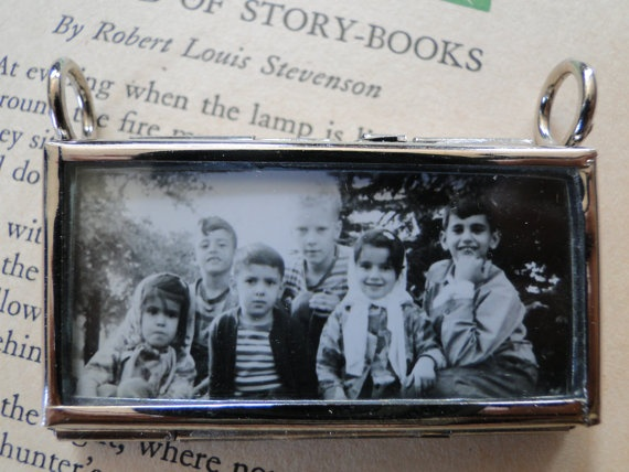 Pendant children friendship Photo necklace by OneSmallStory, $12.00
